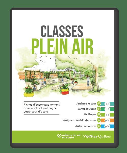 Communiqué :  Cours d'école vertes et enseignement extérieur Nature Québec lance des fiches d'accompagnement pour les écoles