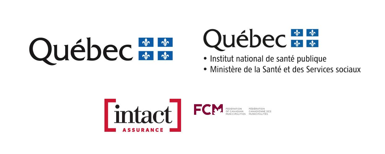 logos des partenaires du programme milieux de vie en saté
