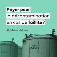 Image Campagne contre GNL Québec - décontamination