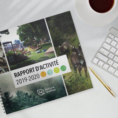 Image du rapport d'activités 2019-2020 de Nature Québec