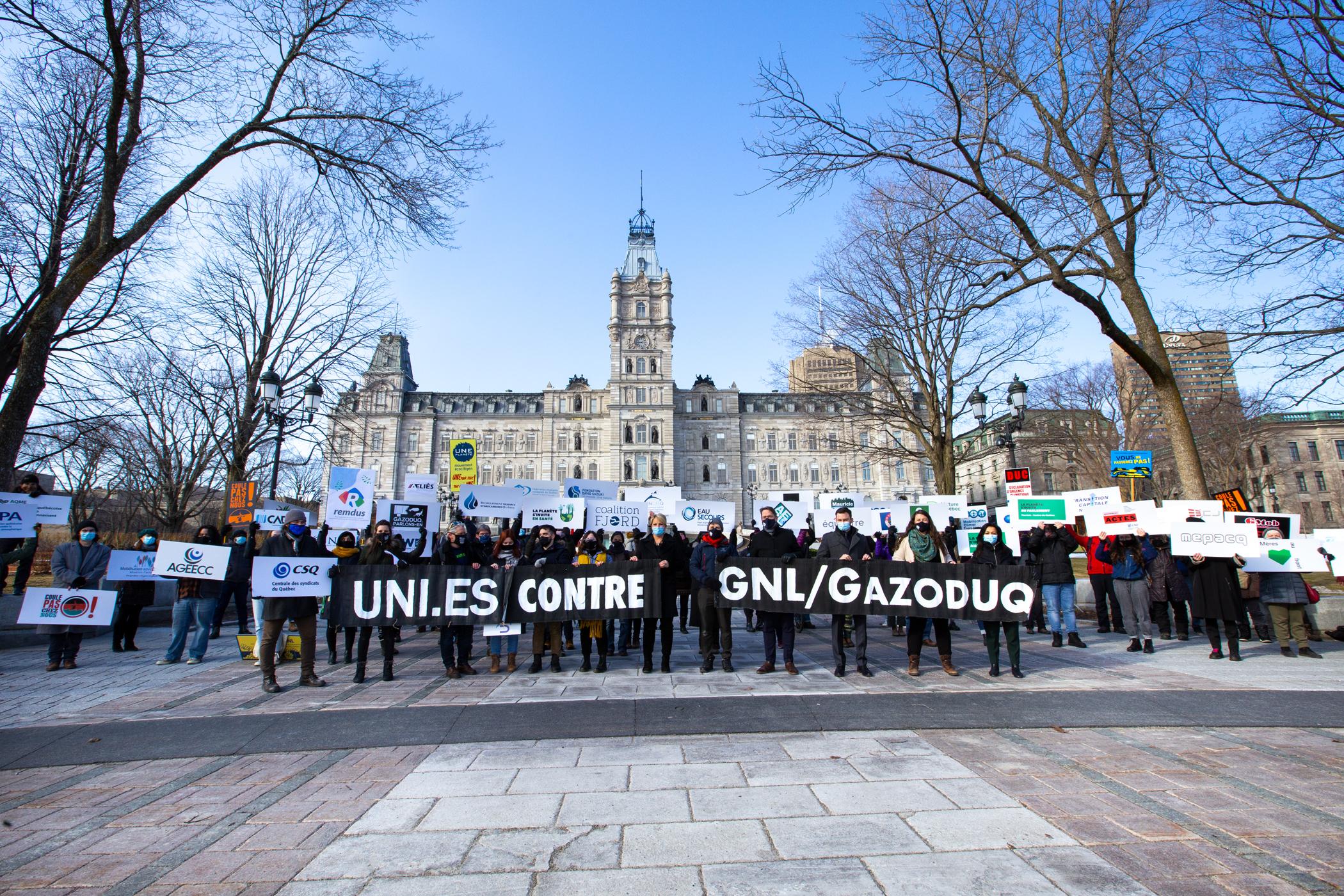 Communiqué - La société civile et les partis d'opposition uni·es contre GNL/Gazoduq