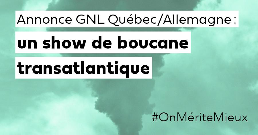Communiqué - Annonce GNL Québec-Hanseatic : un show de boucane transatlantique