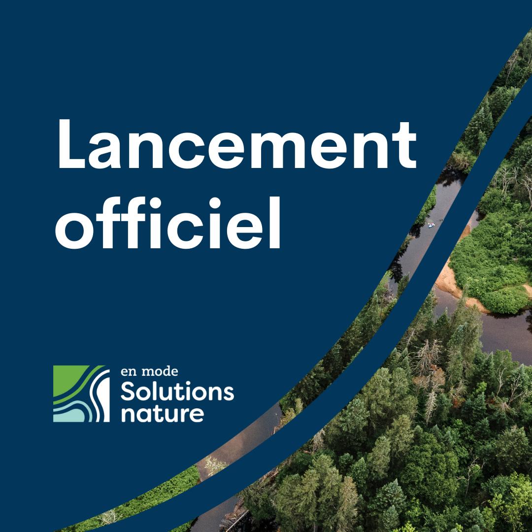 Communiqué - Changements climatiques  Neuf municipalités québécoises et une MRC passent en mode «solutions nature»